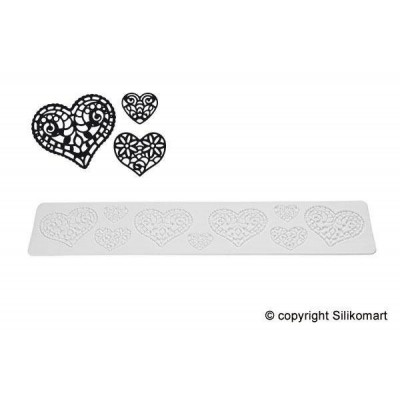Tapis silicone dentelle Hearts