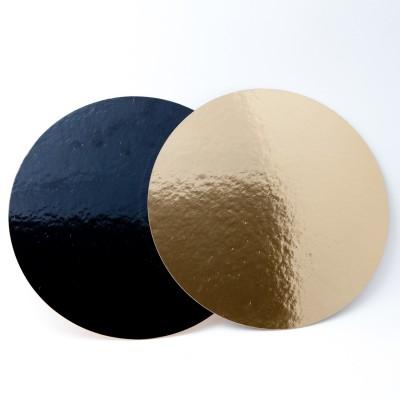 Support à gâteau rond or et noir Ø26cm