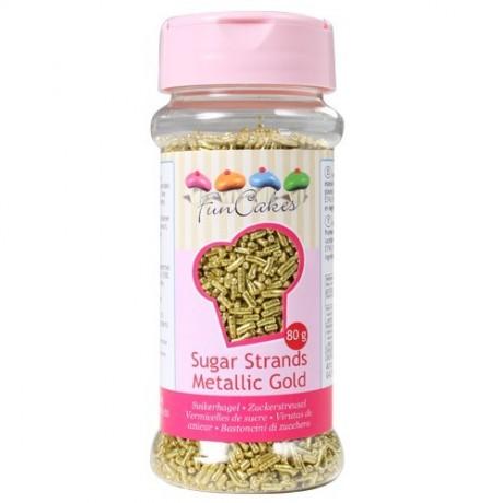 Vermicelles dorés en sucre