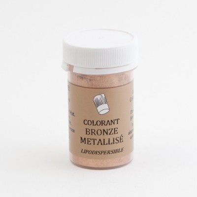 Colorant en poudre bronze métallisé liposoluble 5g