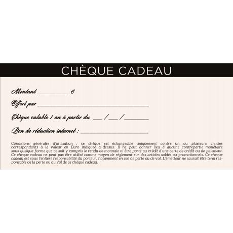 Chèque cadeau de 10€ à 200€