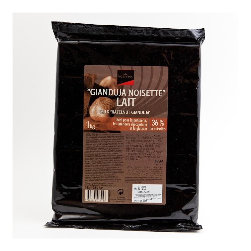Gianduja noisette lait 36% 1 kg VALRHONA