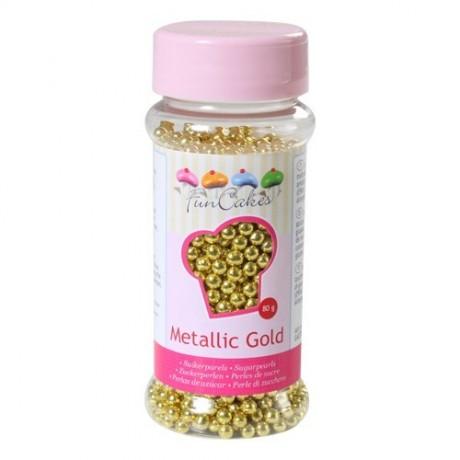 Perles de sucre or