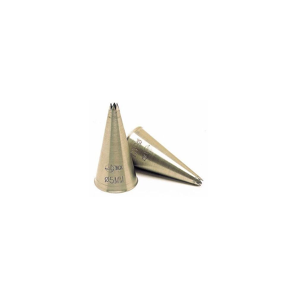 Douille cannelée A8 Ø5mm en inox