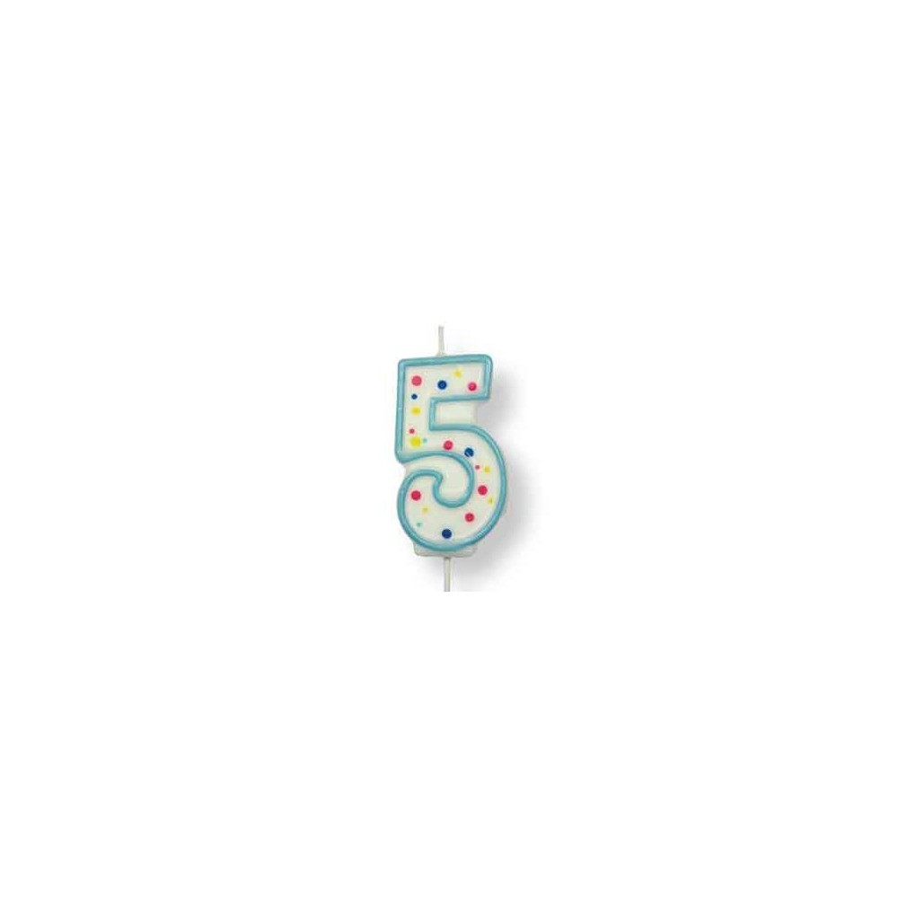 Bougie chiffre 5