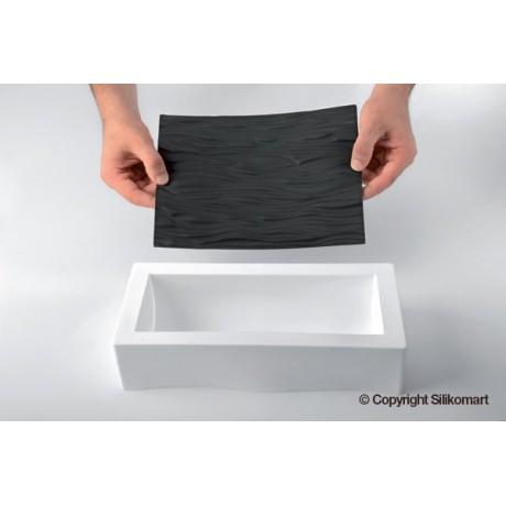 Moule à bûche en silicone avec tapis relief tressé