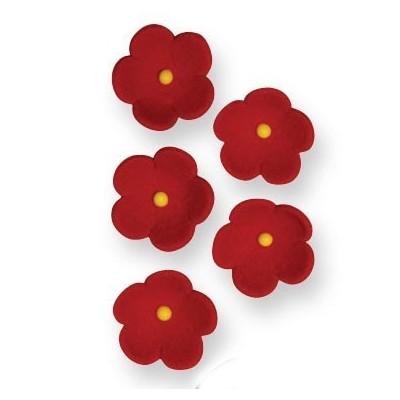 Fleurs en sucre rouges x30