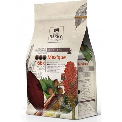 Origine Mexique 66% - Chocolat de couverture noir en pistoles 1kg BARRY