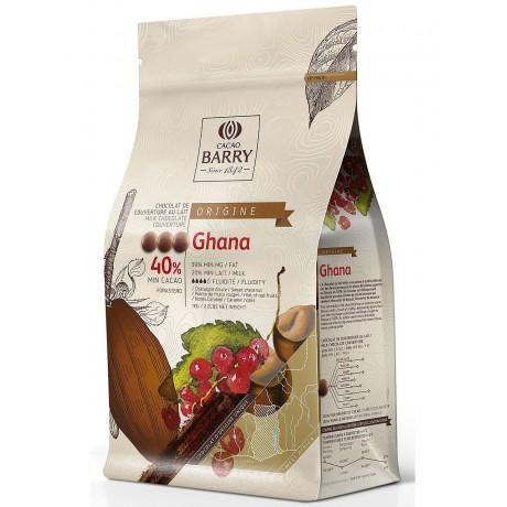Origine Ghana 40,5% - Chocolat de couverture lait en pistoles 1kg BARRY