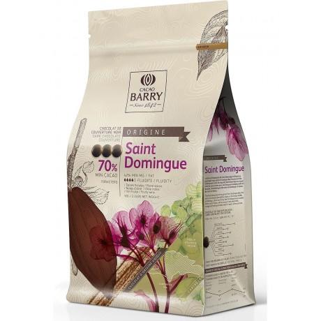 Origine St Domingue 70% - Chocolat de couverture noir en pistoles 1kg BARRY