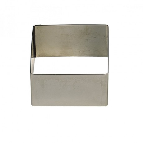 Carré inox 6x6 H3cm 1pers