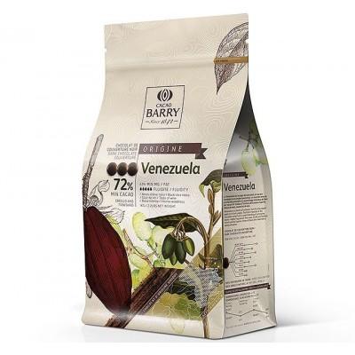 Origine Venezuela 72% - Chocolat de couverture noir en pistoles 1kg BARRY