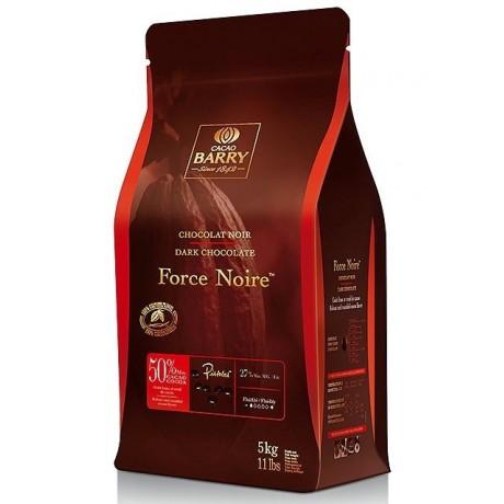 Force Noire 50% - Chocolat de couverture noir en pistoles 1kg BARRY