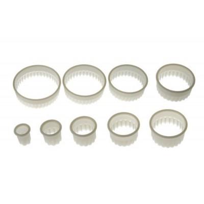 Set d'emporte-pièces ronds cannelés x9