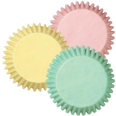 Caissettes assorties couleur pastel x75