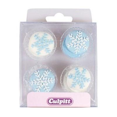 Flocons de neige en sucre x12