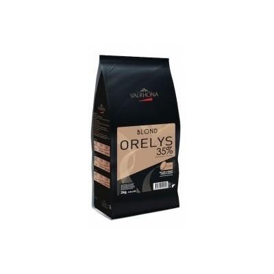 Orelys 35% - Création gourmande chocolat blond en fèves 200g VALRHONA