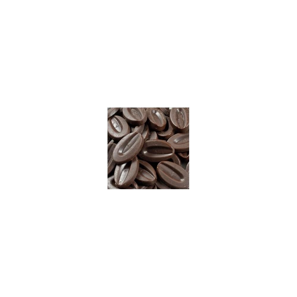 Andoa Noire 70% BIO chocolat de couverture noir en fèves 200g VALRHONA