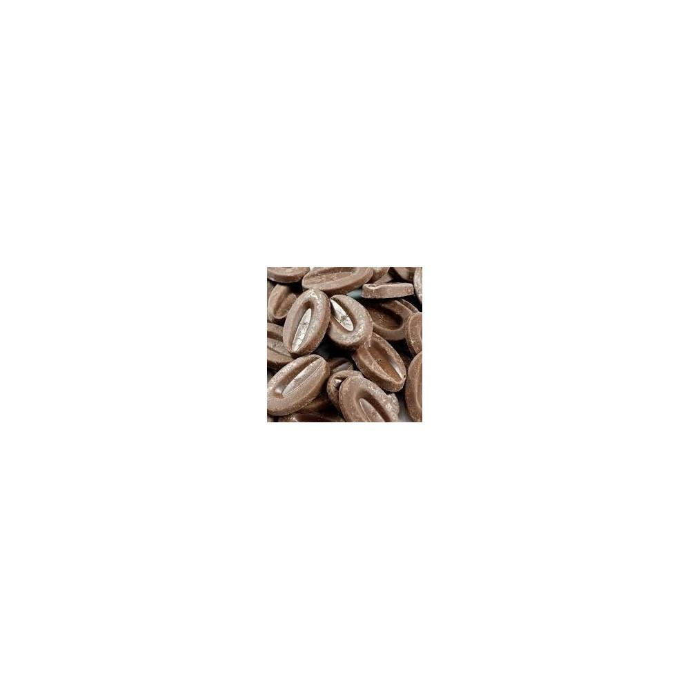 Chocolat de couverture Caramélia 36% de cacao en fèves 200g VALRHONA