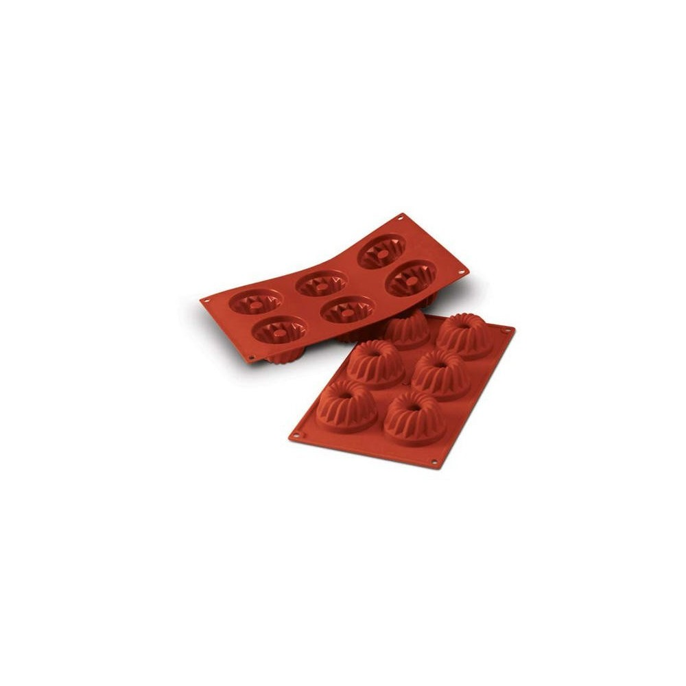 Moule en silicone 6 mini kouglofs
