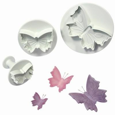 Découpoir poussoir papillon x3