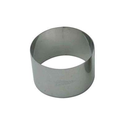 Cercle à mousse en inox Ø8cm H4,5cm 1pers