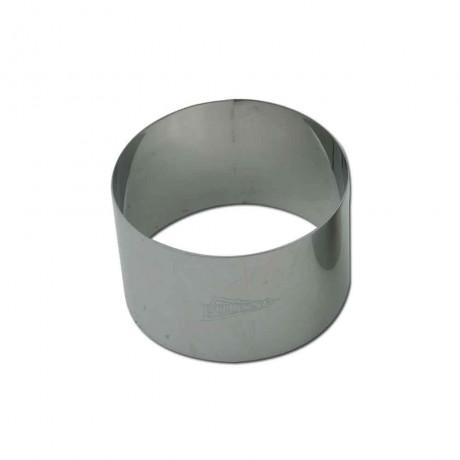 Cercle à mousse en inox Ø8 H4,5cm 1pers