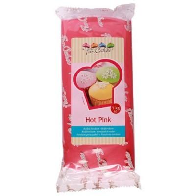 Pâte à sucre hot pink 1kg funcakes