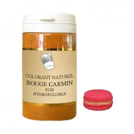 Colorant en poudre rouge carmin