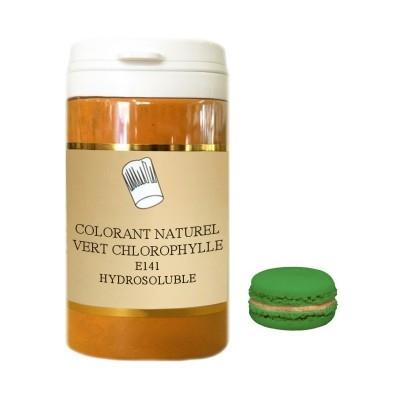 Colorant en poudre vert chlorophylle 10g