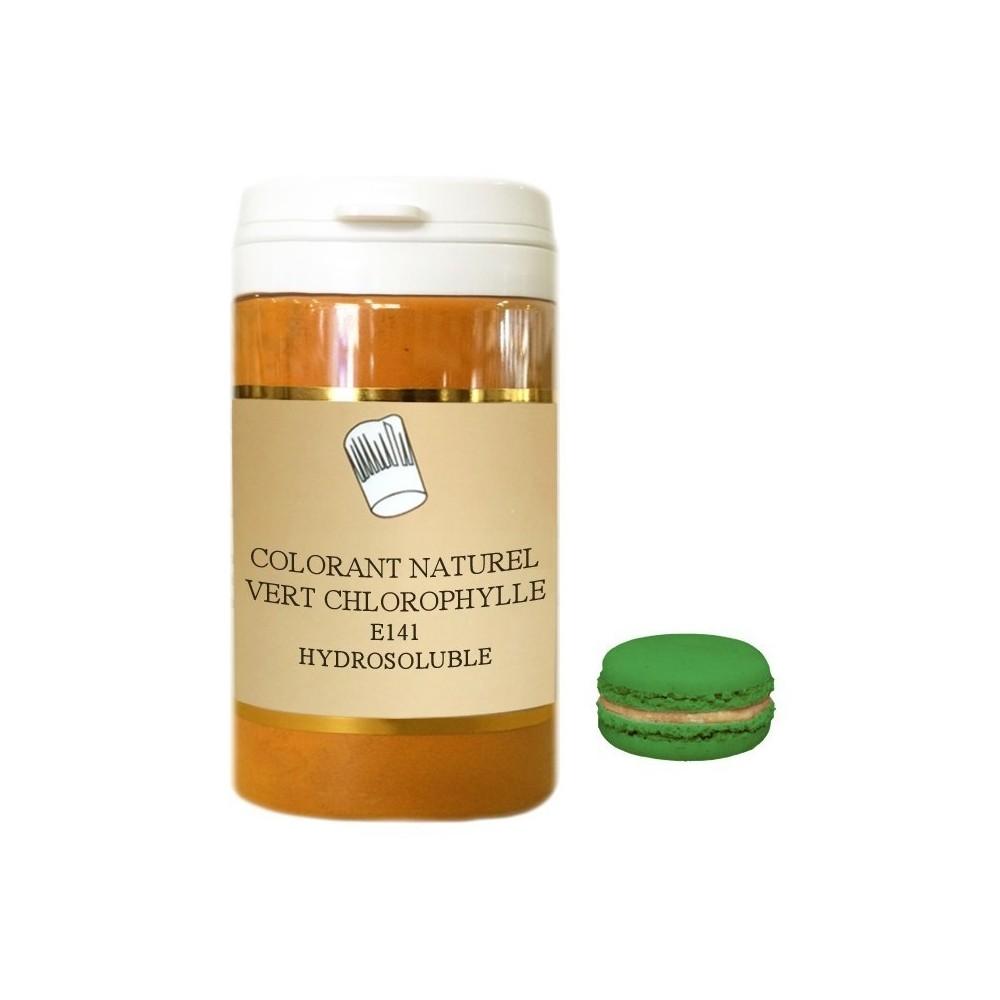 Colorant en poudre vert chlorophylle