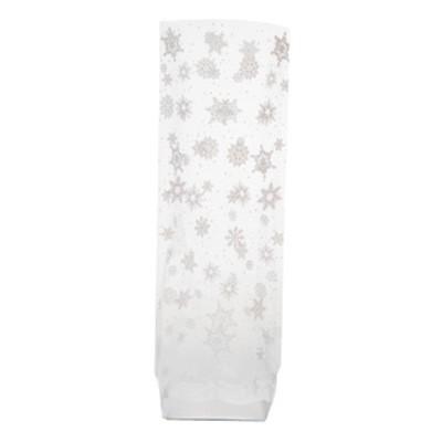 Sachet confiserie motif flocons x10