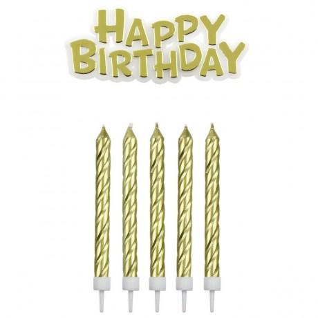Bougies or happy Birthday x16
