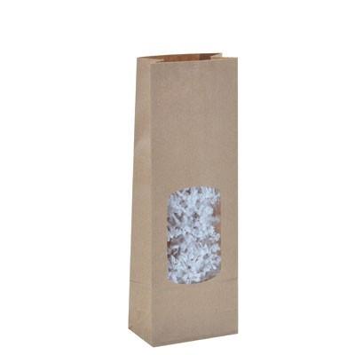 Sachet confiserie kraft avec fenêtre x10