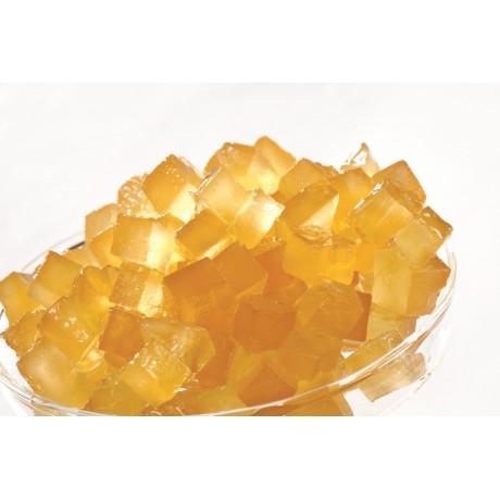 Melon jaune confit en cubes