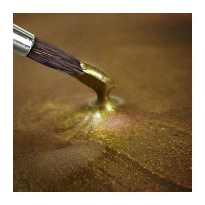 Peinture alimentaire metallic light gold