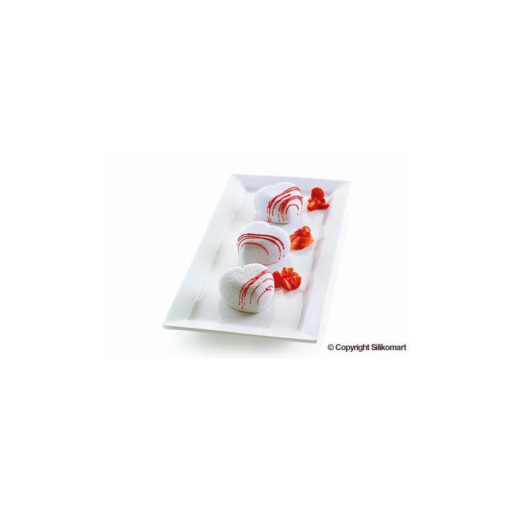 Moule en silicone coeur Cuoricino silikomart