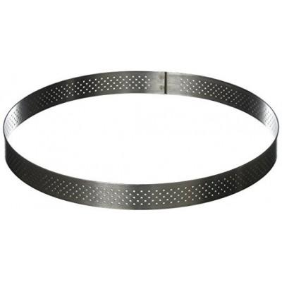 Cercle à tarte perforé en inox Ø28 H2cm