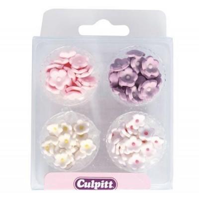 Assortiment de 100 mini fleurs en sucre