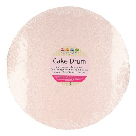 Support à gâteau rond or rose Ø25cm