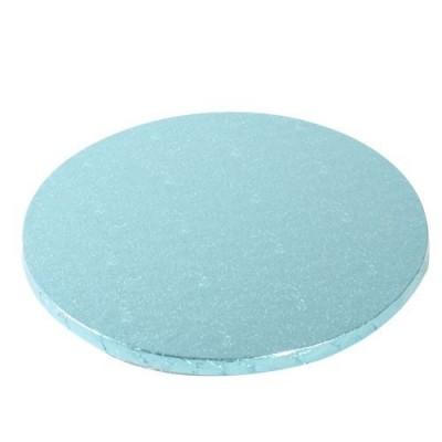 Support à gâteau rond bleu Ø25cm