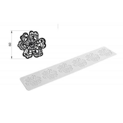 Tapis silicone dentelle Slim flower