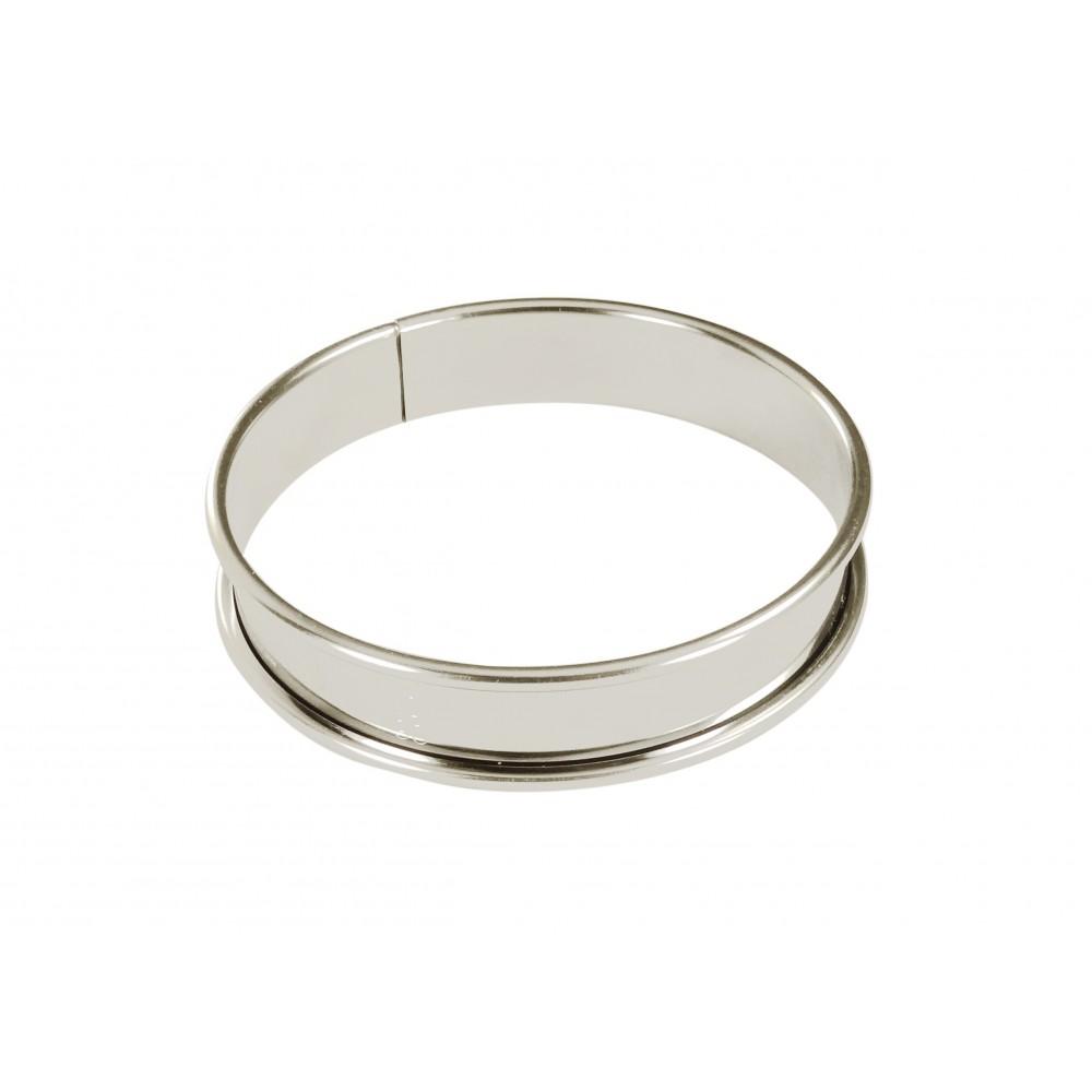 Cercle à tarte en inox Ø8 H2cm