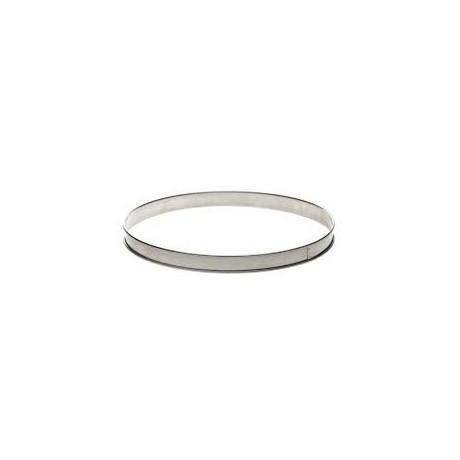 Cercle à tarte en inox Ø26 H2cm