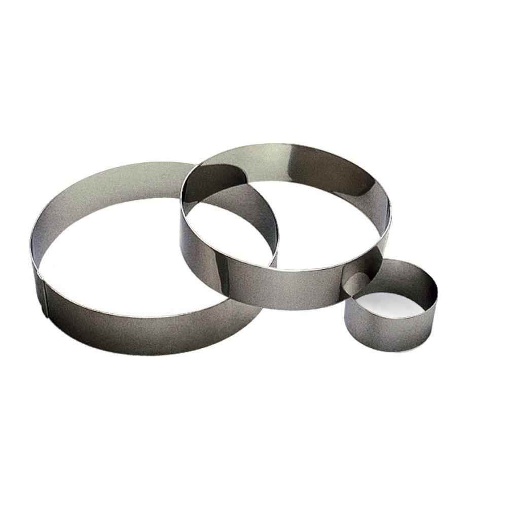 Cercle à mousse en inox Ø12 H4,5cm 2pers