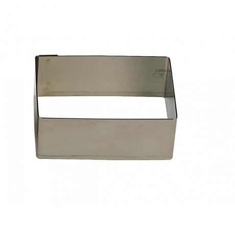Rectangulaire en inox 12x6 H4.5cm