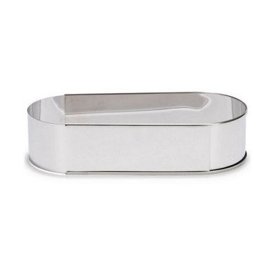 Cadre oval ajustable en inox H6cm