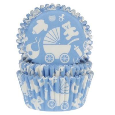 Caissettes baby blue x50