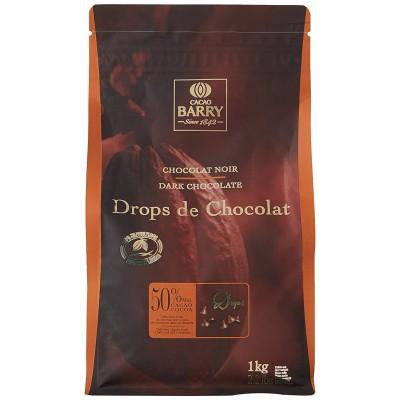 Drops chocolat noir 1kg Cacao Barry