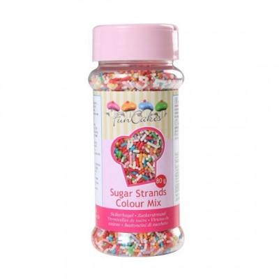 Vermicelles multicolores en sucre Funcakes